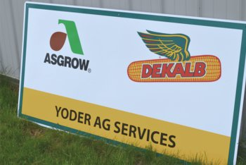 Yoder Ag Services Sign